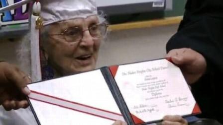 Cụ Ann Colagiovanni trong ngày tốt nghiệp THPT
