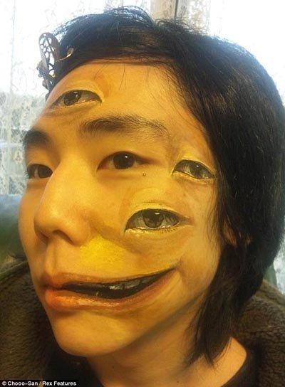 Nghệ thuật vẽ trên cơ thể cực đỉnh của nữ sinh Nhật Bản (6)