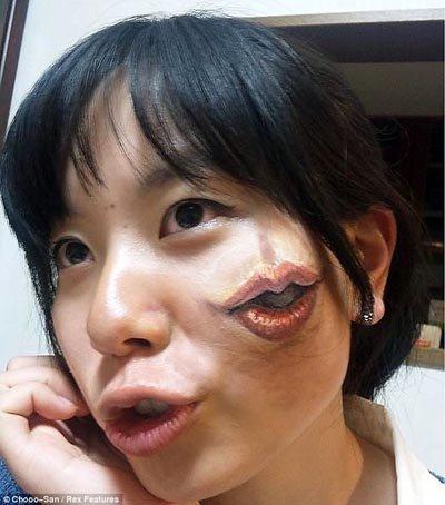 Nghệ thuật vẽ trên cơ thể cực đỉnh của nữ sinh Nhật Bản (2)