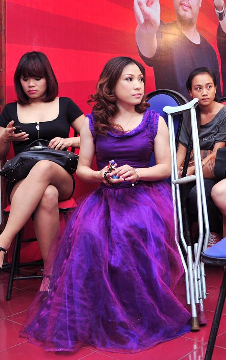 Các thí sinh tại vòng thi Giấu mặt diễn ra vào giữa tháng 6 - Ảnh: Trung Hải