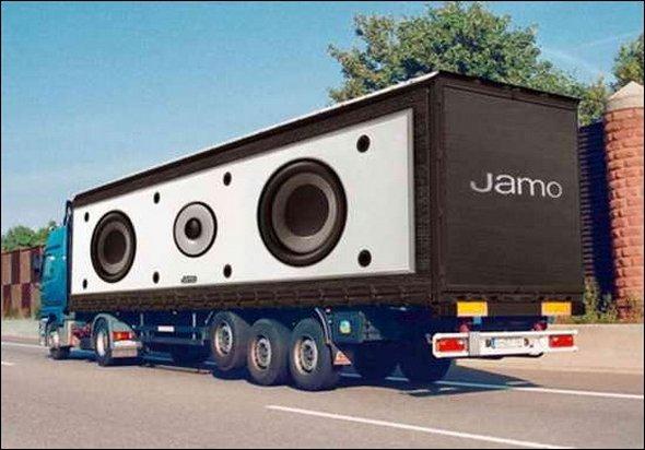 Những mẫu quảng cáo 3D hài hước trên xe tải (9)