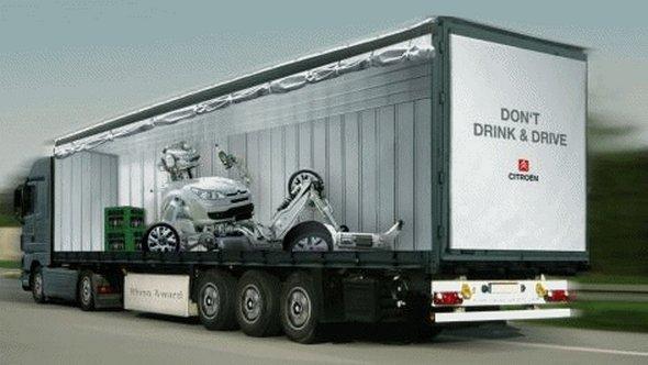 Những mẫu quảng cáo 3D hài hước trên xe tải (8)