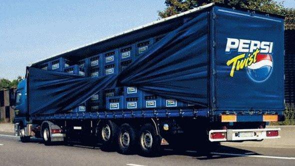 Những mẫu quảng cáo 3D hài hước trên xe tải (7)