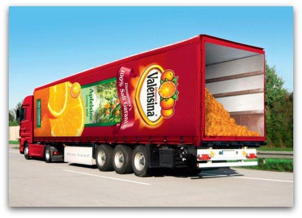 Những mẫu quảng cáo 3D hài hước trên xe tải (4)
