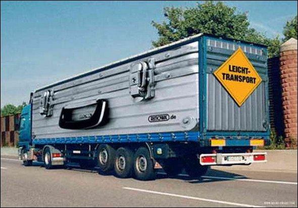 Những mẫu quảng cáo 3D hài hước trên xe tải (3)