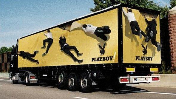 Những mẫu quảng cáo 3D hài hước trên xe tải (2)