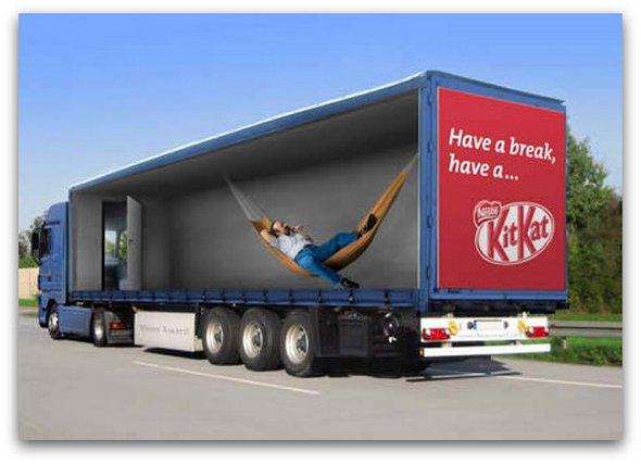 Những mẫu quảng cáo 3D hài hước trên xe tải (1)
