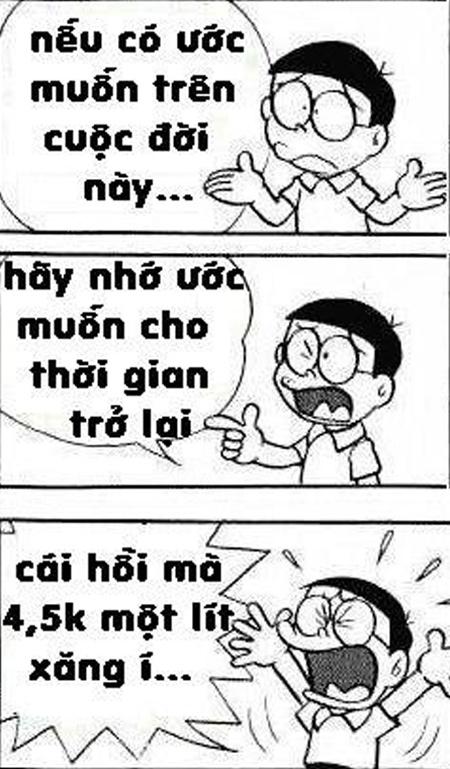 Doraemon chế: lại tăng giá xăng rồi bà con ơi (9)
