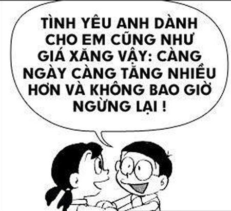 Doraemon chế: lại tăng giá xăng rồi bà con ơi (8)