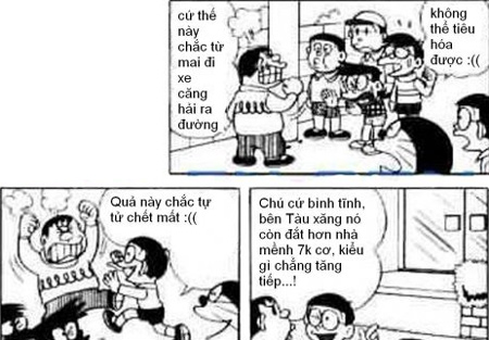 Doraemon chế: lại tăng giá xăng rồi bà con ơi (7)