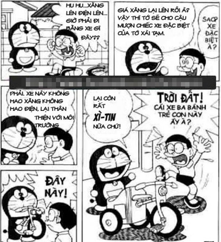 Doraemon chế: lại tăng giá xăng rồi bà con ơi (6)