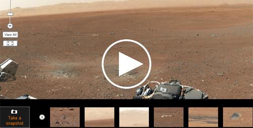 Xem ảnh chụp 360 độ bề mặt sao Hỏa nơi tàu Curiosity đổ bộ