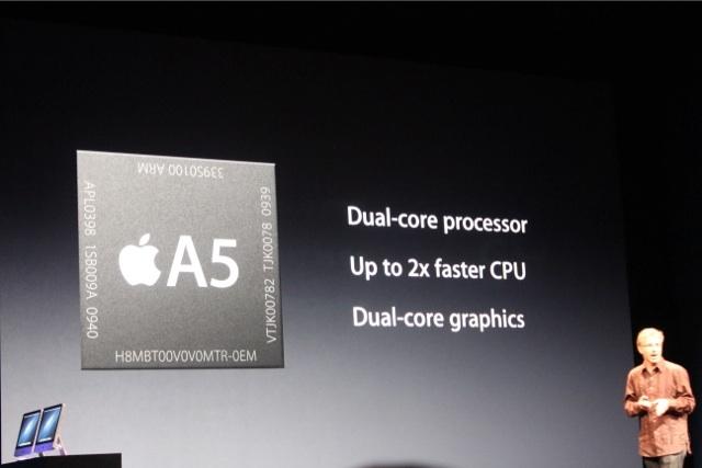 Tai nghe của máy ở bên trái phía dưới, màn hình độ kích thước 4 inch. iPod Touch mới sử dụng vi xử lý A5, nhanh gấp 7 lần về đồ họa.