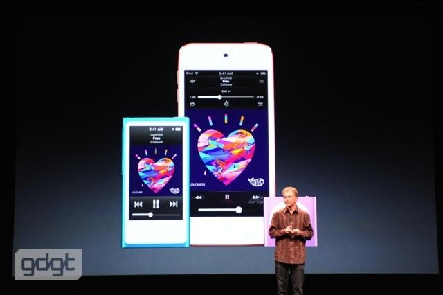 iPod Touch mới chống va đập tốt hơn, có khả năng chơi được video 1080p, camera trước có thể gọi Facetime 720p. Các kết nối được trang bị là Bluetooth 4.0 LE, Wi-Fi 802.11 a/b/g/n.