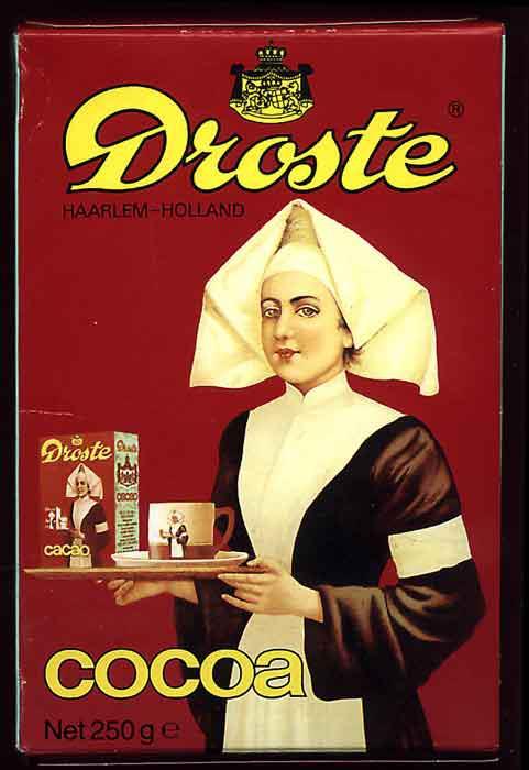 Quảng cáo hộp bột cacao Droste