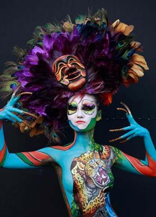Những tác phẩm độc đáo tại lễ hội 'Body painting quốc tế' (6)