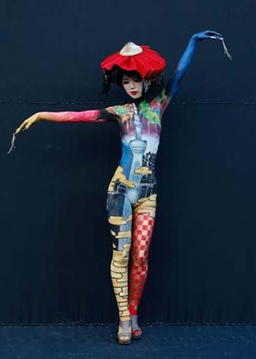 Những tác phẩm độc đáo tại lễ hội 'Body painting quốc tế' (4)