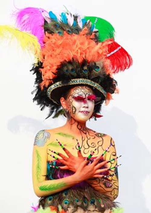 Những tác phẩm độc đáo tại lễ hội 'Body painting quốc tế' (3)