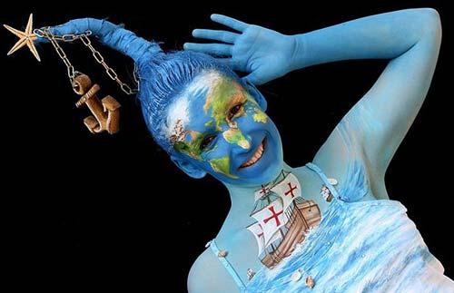 Những tác phẩm độc đáo tại lễ hội 'Body painting quốc tế' (12)