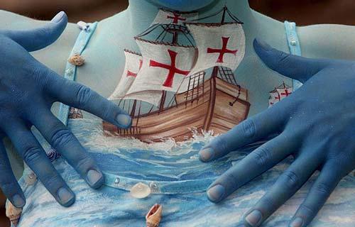 Những tác phẩm độc đáo tại lễ hội 'Body painting quốc tế' (10)