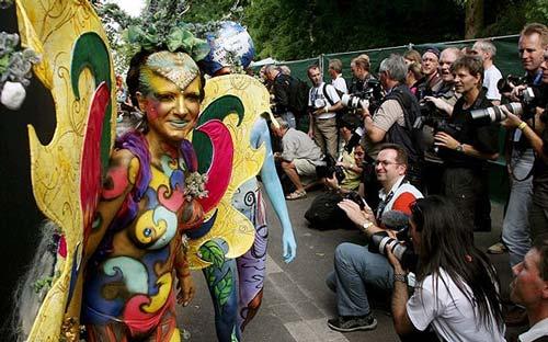 Những tác phẩm độc đáo tại lễ hội 'Body painting quốc tế' (9)