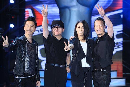 Bộ tứ quyền lực của The Voice Trung Quốc 2012: Dữu Trừng Khánh, Lưu Hoan, Na Anh và Dương Khôn (từ trái qua).
