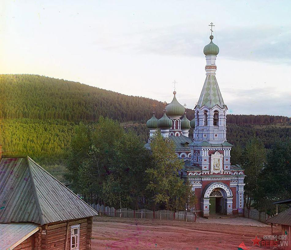 Nhà thờ ở vùng đất mởi khẩn hoang Vetluga, 1910.