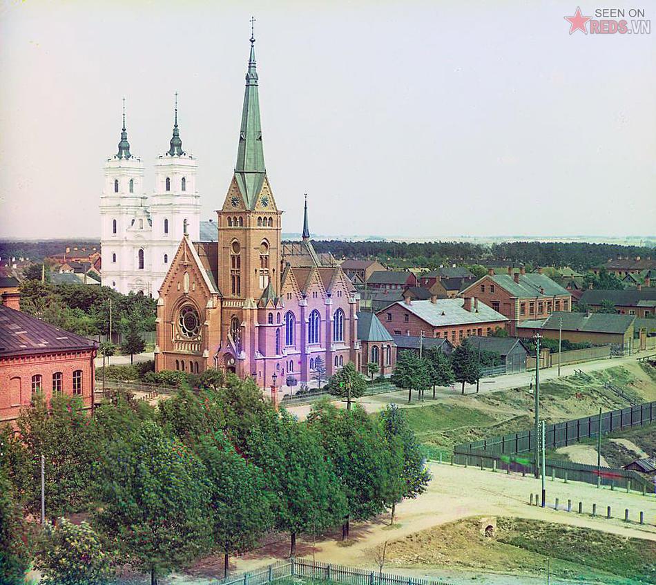 Nhà thờ Công giáo La Mã ở Dvinsk, 1912.