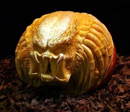 """""""Choáng"""" với những tác phẩm điêu khắc bí ngô đón lễ hội Halloween (19)"""