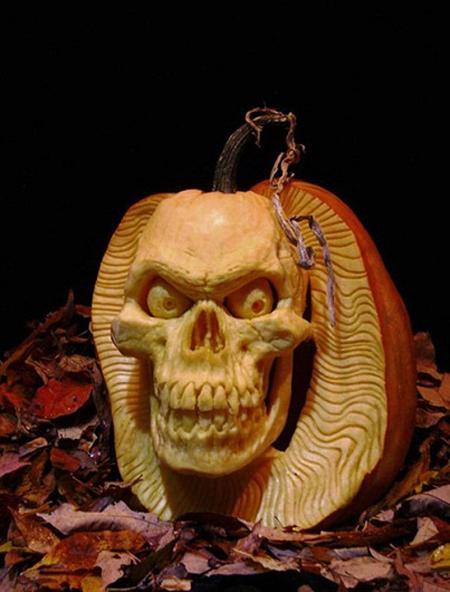 """""""Choáng"""" với những tác phẩm điêu khắc bí ngô đón lễ hội Halloween (10)"""