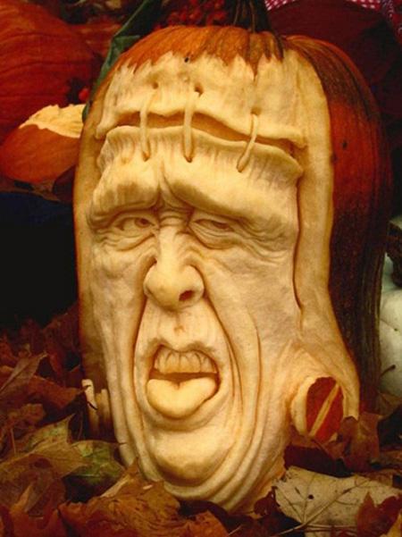 """""""Choáng"""" với những tác phẩm điêu khắc bí ngô đón lễ hội Halloween (9)"""
