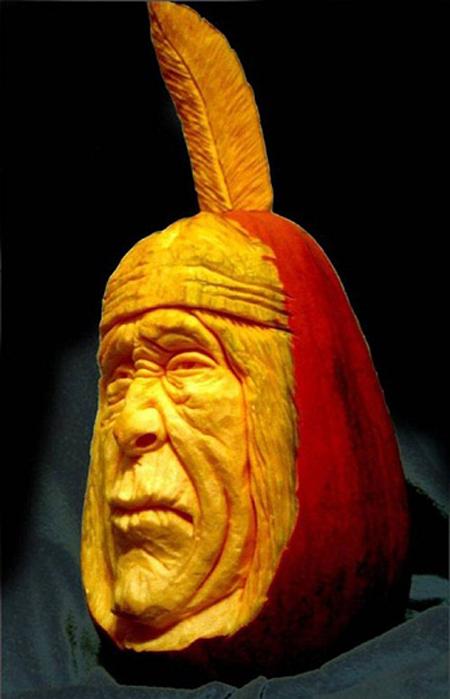 """""""Choáng"""" với những tác phẩm điêu khắc bí ngô đón lễ hội Halloween (8)"""