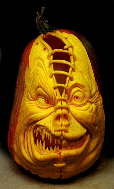 """""""Choáng"""" với những tác phẩm điêu khắc bí ngô đón lễ hội Halloween (7)"""