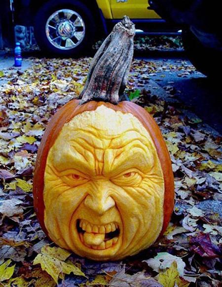 """""""Choáng"""" với những tác phẩm điêu khắc bí ngô đón lễ hội Halloween (2)"""
