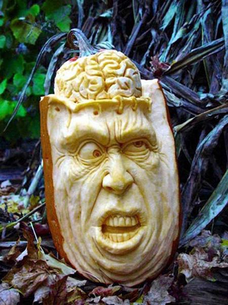 """""""Choáng"""" với những tác phẩm điêu khắc bí ngô đón lễ hội Halloween (1)"""