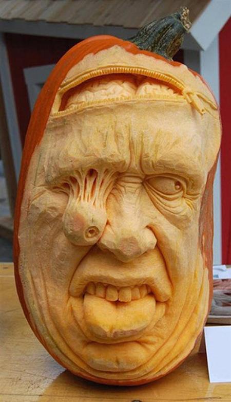 """""""Choáng"""" với những tác phẩm điêu khắc bí ngô đón lễ hội Halloween (18)"""