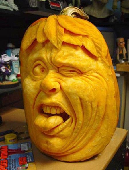 """""""Choáng"""" với những tác phẩm điêu khắc bí ngô đón lễ hội Halloween (17)"""
