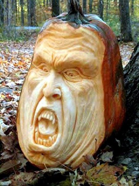 """""""Choáng"""" với những tác phẩm điêu khắc bí ngô đón lễ hội Halloween (16)"""