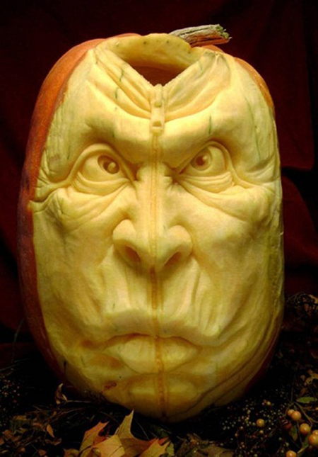 """""""Choáng"""" với những tác phẩm điêu khắc bí ngô đón lễ hội Halloween (15)"""