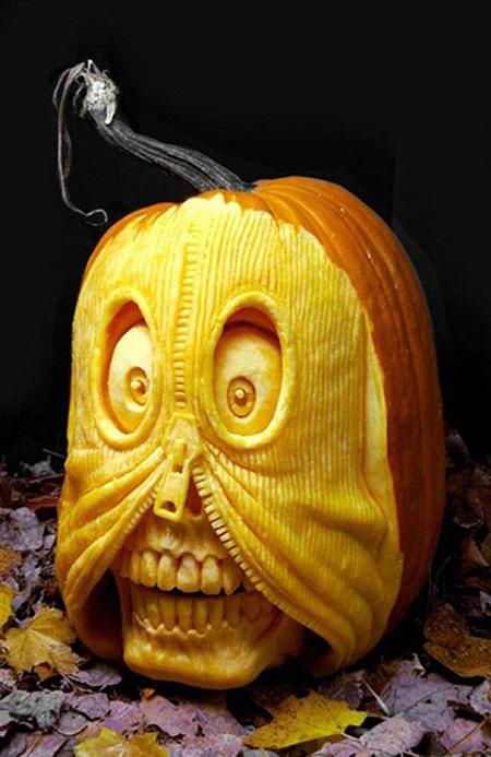 """""""Choáng"""" với những tác phẩm điêu khắc bí ngô đón lễ hội Halloween (13)"""
