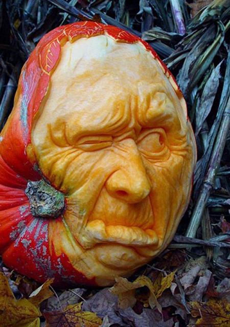 """""""Choáng"""" với những tác phẩm điêu khắc bí ngô đón lễ hội Halloween (11)"""