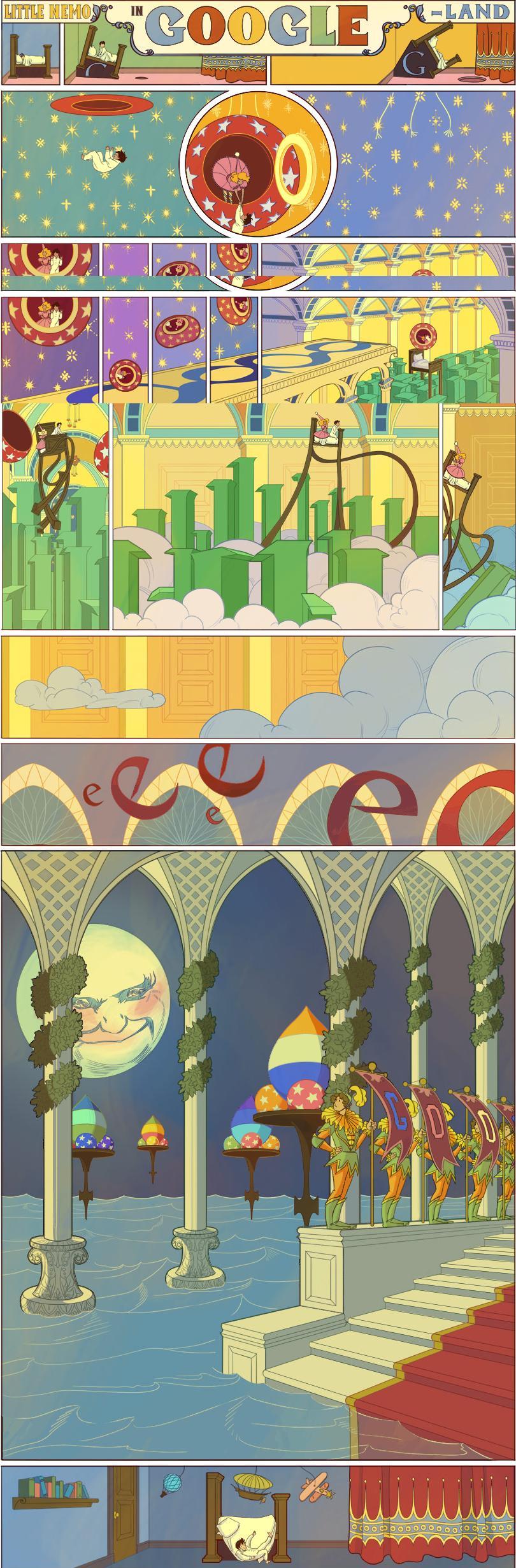 """Logo Google hôm nay: Kỷ niệm 107 năm bộ truyện tranh """"Little Nemo"""" của Winsor McCay"""