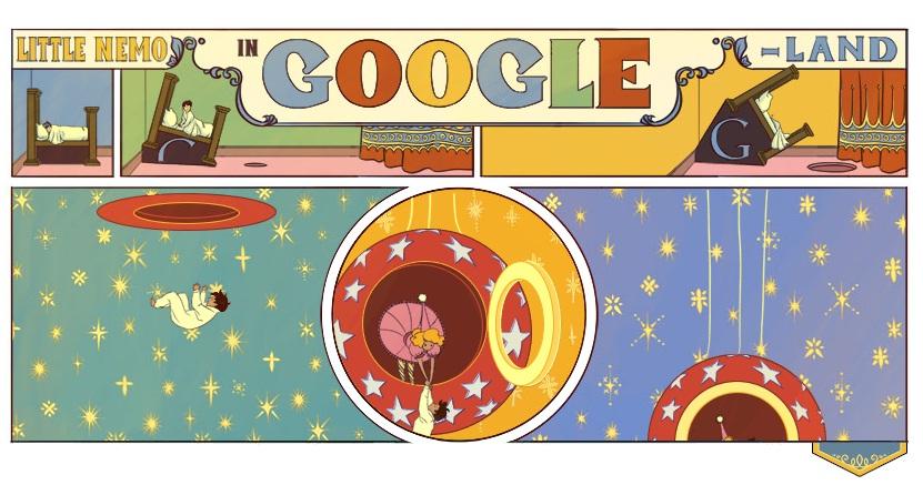 """Logo Google hôm nay 15-10-2012: Kỷ niệm 107 năm bộ truyện tranh """"Little Nemo"""" của Winsor McCay"""