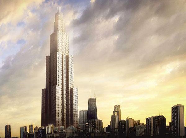 Phối cảnh tòa nhà Sky City cao 838m