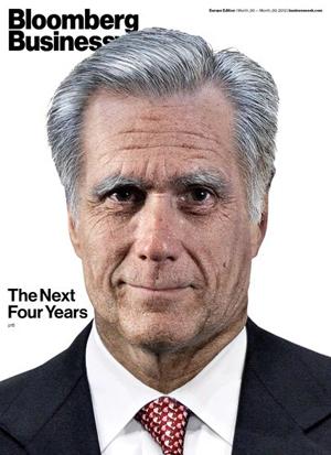 Romney sẽ trở thành ông lão 69 tuổi già nua sau 4 năm nữa nếu giữ chức vụ tổng thống. Ảnh: Bloomberg Businessweek