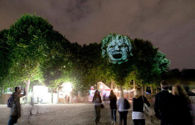 Kinh ngạc tượng 3D từ...cây và ánh sáng | Chuyện lạ (1)