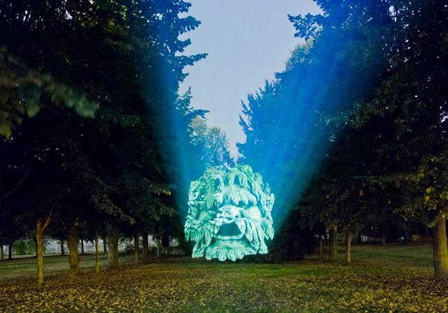 Kinh ngạc tượng 3D từ...cây và ánh sáng | Chuyện lạ (8)