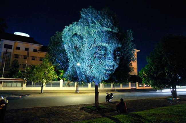 Kinh ngạc tượng 3D từ...cây và ánh sáng | Chuyện lạ (6)