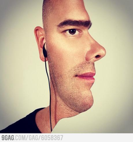 Ảnh độc đáo: khuôn mặt hai trong một