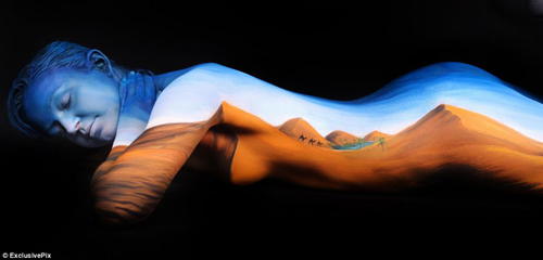 Ngắm những bức tranh tuyệt đẹp trên cơ thể   Body painting